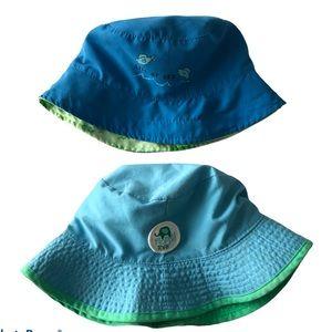 Two Reversible Summer Bucket Hats 2-4T